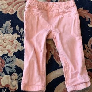 Baby girls pink jeans